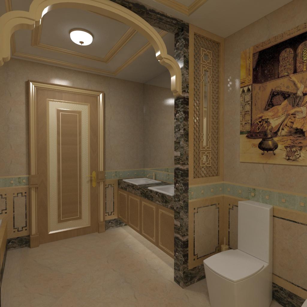H.H. Shk. Saleh Bedroom Bathroom 01