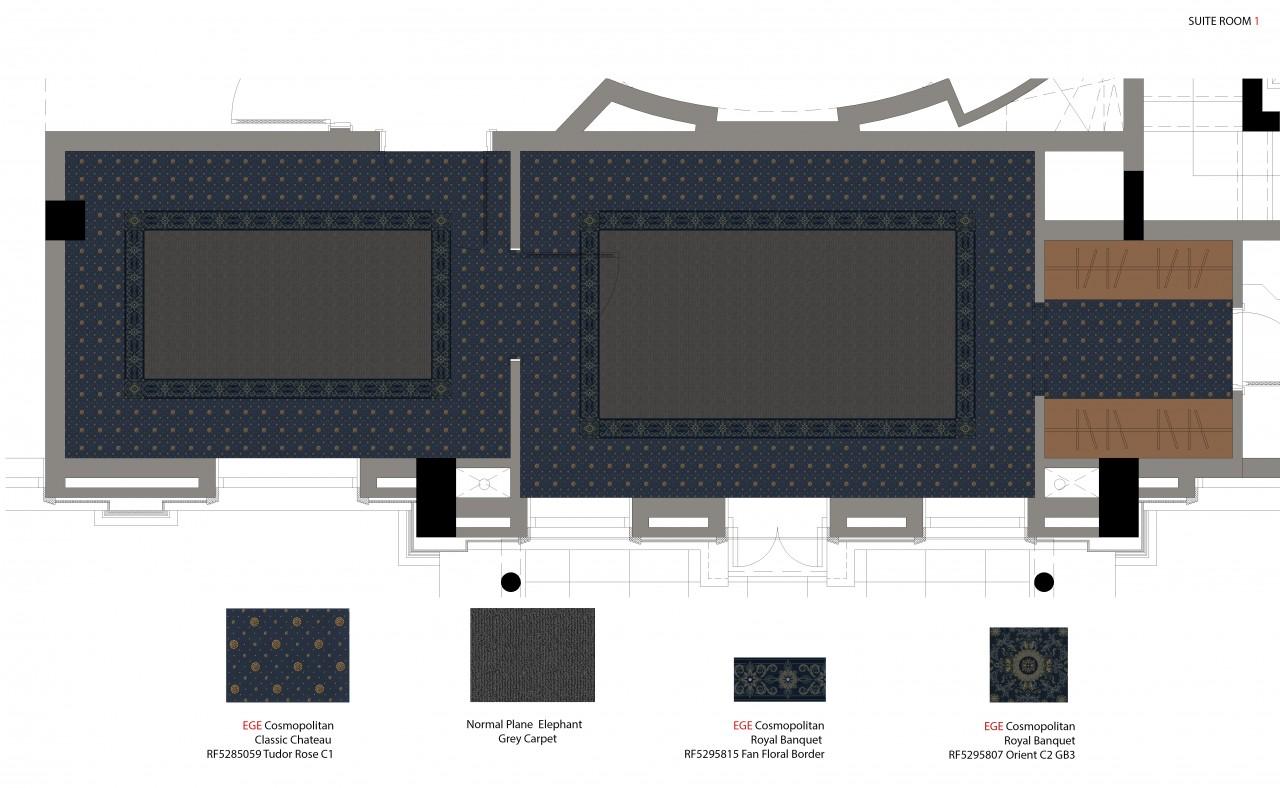 Suite 1 Carpet Plan And Details