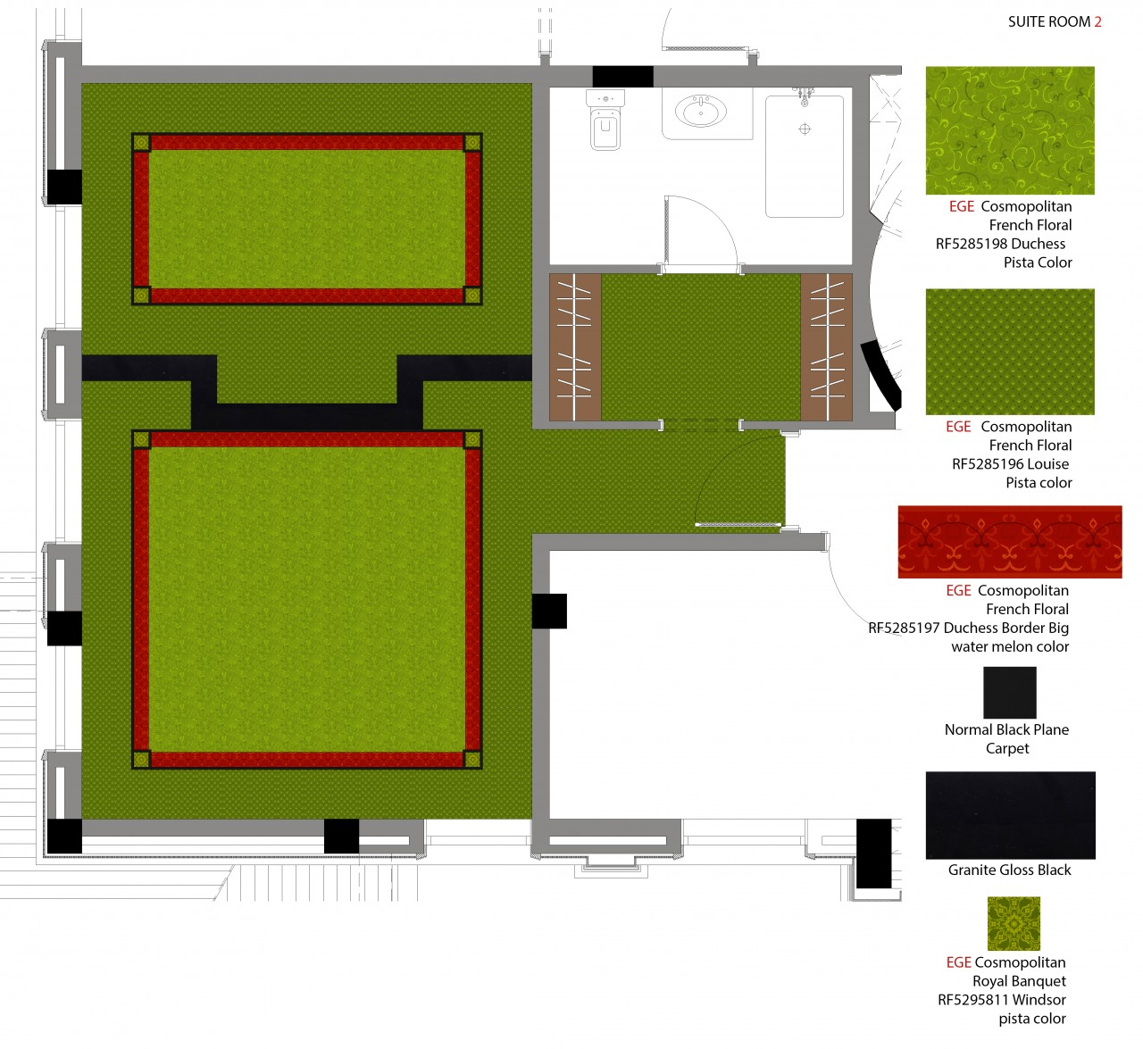 Suite 2 Carpet Plan And Details