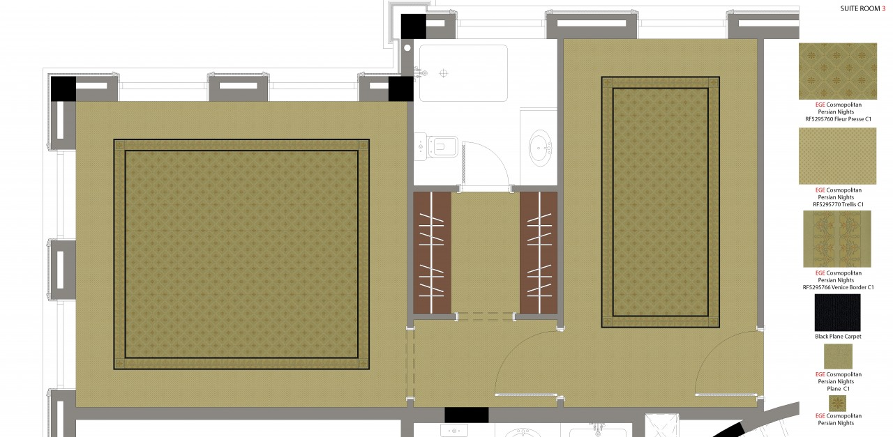 Suite 3 Carpet Plan And Details