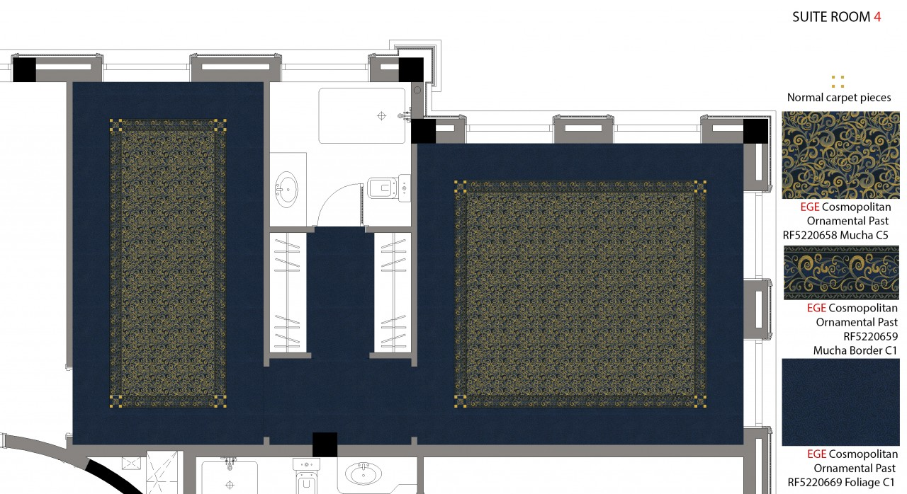 Suite 4 Carpet Plan And Details
